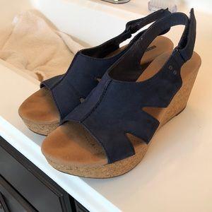 Navy Blue Clark's Sandals
